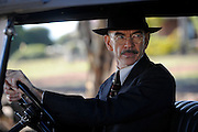 Actor Nicholas Hope (Detective Manning) on the set of 'Blood In The Sand' - Beverley Western Australia - Still photograph by David Dare Parker