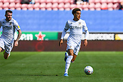 Leeds United forward Helder Costa (17) in action during the EFL Sky Bet Championship match between Wigan Athletic and Leeds United at the DW Stadium, Wigan, England on 17 August 2019.