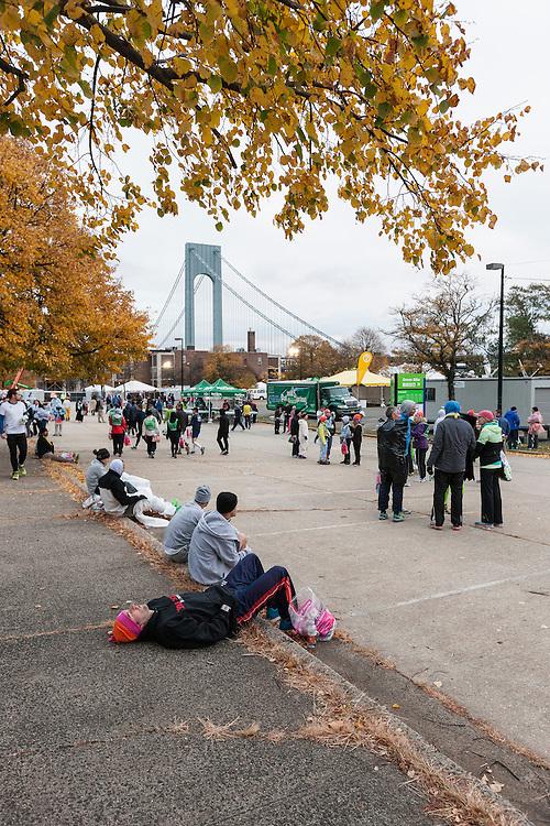 ING New York CIty Marathon: start line village