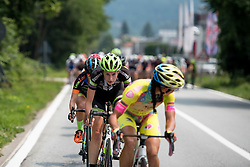Riejanne Markus of Liv Plantur worked hard to form the early break on the final stage around Verbania.