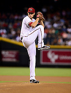 Sep. 14, 2012; Phoenix, AZ, USA; Arizona Diamondbacks pitcher Tyler Skaggs (37) pitches during the game against the San Francisco Giants in the first inning at Chase Field.  Mandatory Credit: Jennifer Stewart-US PRESSWIRE