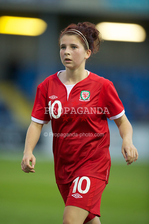 BROUGHTON, WALES - Friday, September 9, 2011: Wales' Allie Young (Garw) in action against Denmark during an international friendly women's Under-17 match at the Airfield. (Pic by David Rawcliffe/Propaganda)