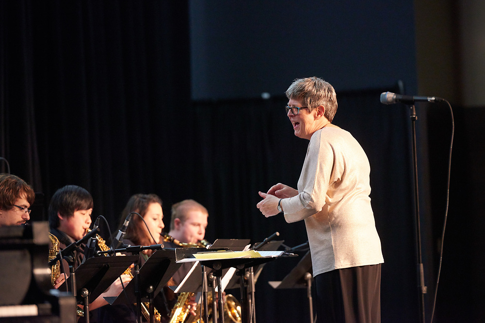 UWL Jazz Orchestra and Jazz Ensemble Director Karyn Quinn will lead her final concert Tuesday, April 18. Quinn is retiring after 27 years as a senior lecturer in the Music Department.