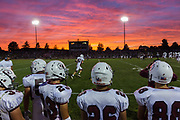 Gettysburg Warriors players watch the game from the sidelines during the season opener game at South Western High School on Friday, Sept. 2, 2016.