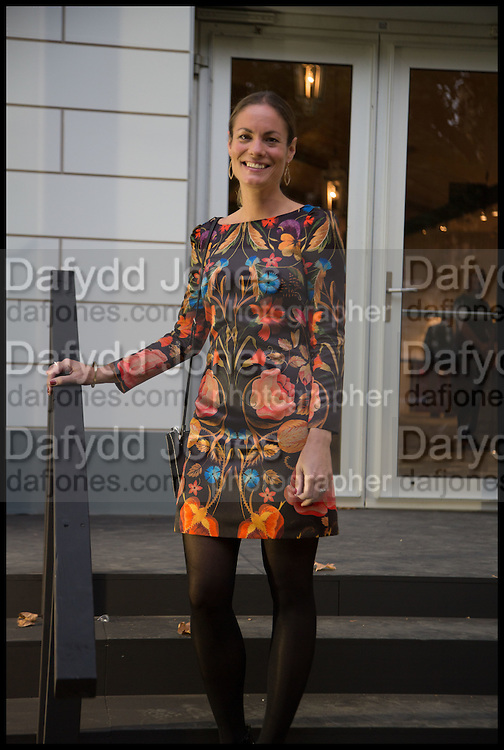 REBECCA DAVIES at the preview of LAPADA Art and Antiques Fair. Berkeley Sq. London. 23 September 2014.
