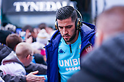 Leeds United goalkeeper Kiko Casilla (13) arrives at the ground during the EFL Sky Bet Championship match between Leeds United and Sheffield Wednesday at Elland Road, Leeds, England on 11 January 2020.