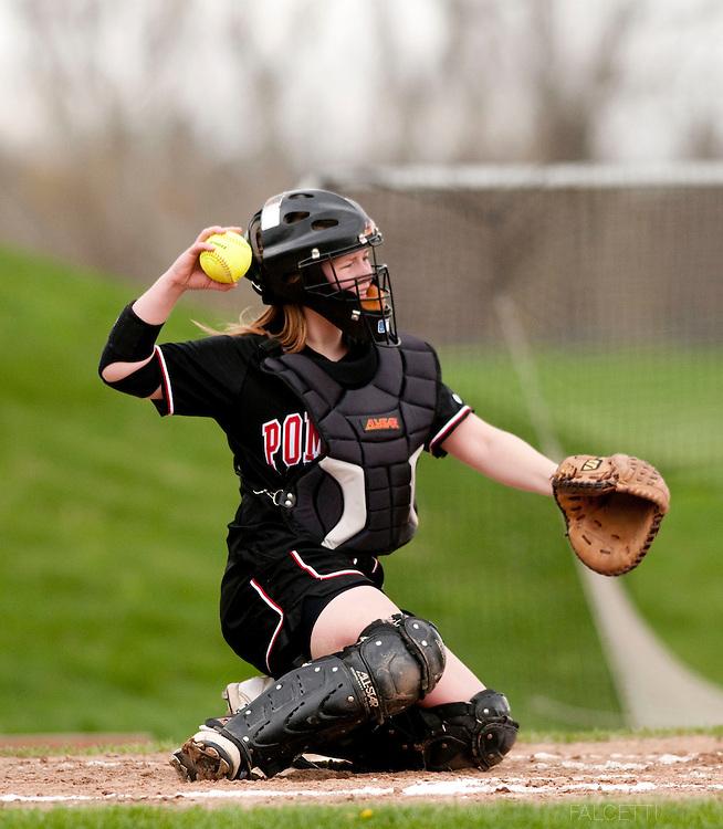 The Pomfret School, Pomfret, CT. 2010-2011. Varsity Softball.  (Photo by Robert Falcetti). .