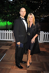 MICHELLE COLLINS and RICHARD WILSON at the Royal Parks Foundation Summer Party hosted by Candy & Candy on the banks of the Serpentine, Hyde Park, London on 10th September 2008.