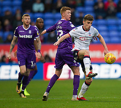 Sam Clucas of Stoke City and Joe Williams of Bolton Wanderers (R) in action - Mandatory by-line: Jack Phillips/JMP - 29/12/2018 - FOOTBALL - University of Bolton Stadium - Bolton, England - Bolton Wanderers v Stoke City - English Football League Championship