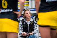 BARNEVELD - Hoofdklasse zaalhockey dames. Den Bosch-Rotterdam (1-0). Bas van Zundert (Den Bosch) COPYRIGHT KOEN SUYK