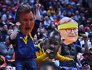 SAN DIEGO, CA - MARCH 18:  West Virginia Mountaineers fans cheer during a second round game of the Men's NCAA Basketball Tournament against the Marshall Thundering Herd at Viejas Arena in San Diego, California. West Virginia won 94-71.  (Photo by Sam Wasson)