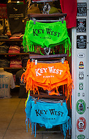 KEY WEST, FL - CIRCA 2012: Tipycal gift shop on Duval Street, circa 2012. The tropical city is a popular tourist destination with over 2 million yearly visitors.