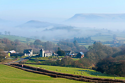 © Licensed to London News Pictures. 27/02/2019. Llanddewi'r - Cwm, Powys, Wales, UK. Saint David's church, in the tiny Welsh village of Llanddewi'r - Cwm in Powys, is surrounded by mist after a cold night with temperatures dropping to around minus 3 degrees C. Photo credit: Graham M. Lawrence/LNP