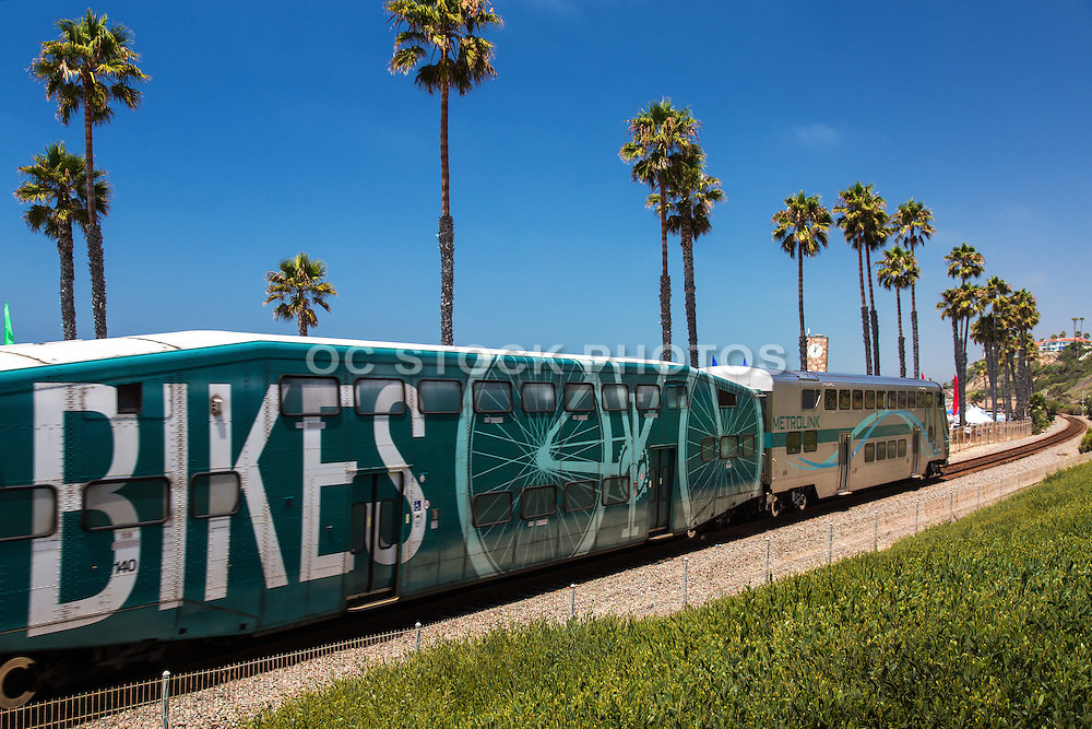 Metrolink Train Passing Through San Clemente California