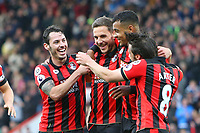 Football - 2016 / 2017 Premier League - AFC Bournemouth vs. Hull City<br /> <br /> Bournemouth's Dan Gosling celebrates scoring his sides sixth goal with teammates at Dean Court (The Vitality Stadium)<br /> <br /> Colorsport/Shaun Boggust