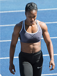 01.08.2013, Stadion der Stadt Linz, AUT, USA Track & Field Team Camp, im Bild Carmelita Jeter, USA, Olympiasiegerin 100 und 200m, // Carmelita Jeter of the USA, Olympic Champian during a practice session of USA Track & Field, Stadium der Stad Linz, Austria on 2013/08/01. EXPA Pictures © 2013, PhotoCredit: EXPA/ Reinhard Eisenbauer