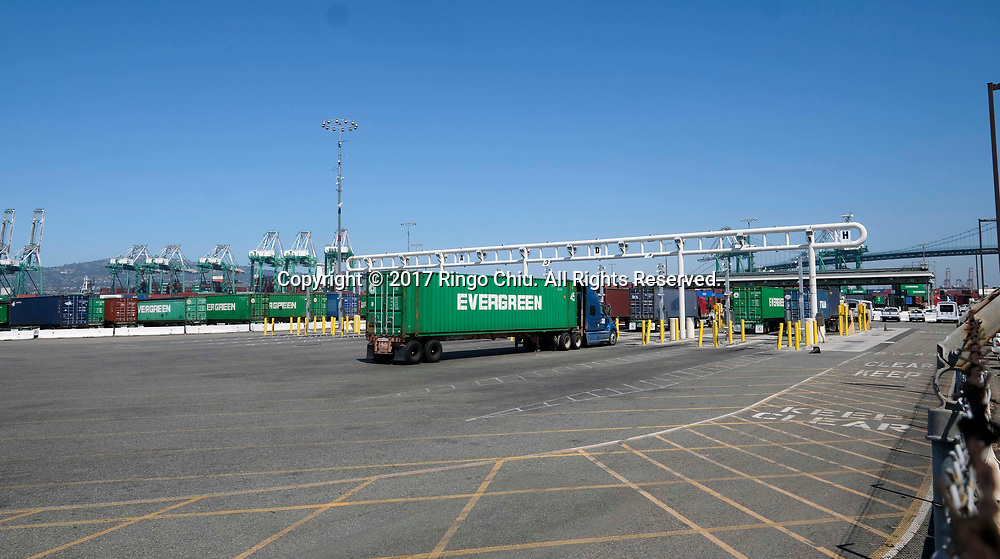 Everport Terminal Service?s at 389 Terminal Way, San Pedro, CA 90731 . (Photo by Ringo Chiu)<br /> (Photo by Ringo Chiu)<br /> <br /> Usage Notes: This content is intended for editorial use only. For other uses, additional clearances may be required.