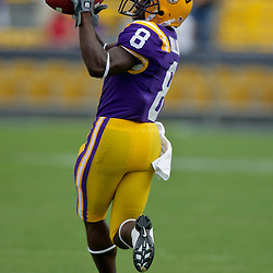 19 September 2009: LSU Tigers running back Trindon Holliday (8) during warm ups before a 31-3 win by the LSU Tigers over the University of Louisiana-Lafayette Ragin Cajuns at Tiger Stadium in Baton Rouge, Louisiana.