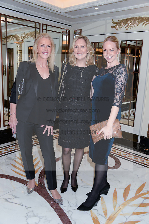 Left to right, CHARLOTTE STOCKTING, JULIET HERD and ROSIE NIXON at Fashion For The Brave at The Dorchester, Park Lane, London on 8th November 2013.