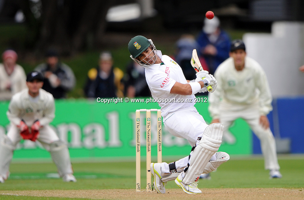 South Africa's Jean-Paul Duminy. Test match cricket. Third Test, Day 1. New Zealand Black Caps versus South Africa Proteas, Basin Reserve, Wellington, New Zealand. Friday 23 March 2012. Photo: Andrew Cornaga/Photosport.co.nz