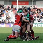 Twickenham, GREAT BRITAIN,  Quins',  Charlie AMESBURY, during the Heineken Cup Rugby Pool 4. Round 6, Match, Harlequins vs  Llanelli Scarlets,  played at Twickenham Stoop, Twickenham, Surrey, on Saturday - 24/01/2009.  [Photo, Peter Spurrier/Intersport-images]