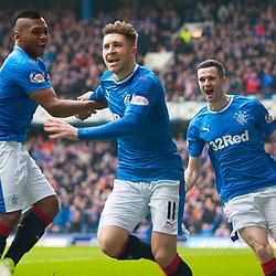 Rangers v Celtic Scottish Premiership 11 March 2018; Josh Windass (Rangers, 11) scores during the  Rangers v Celtic Scottish Premiership match played at Ibrox Stadium, Glasgow; <br /> <br /> &copy; Chris McCluskie | SportPix.org.uk