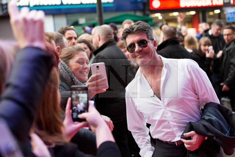 "© Licensed to London News Pictures. 22/01/2016. London, UK. Simon Cowell arrives at The Dominion Theatre in London for the ""Britain's Got Talent"" auditions. Photo credit : Vickie Flores/LNP"