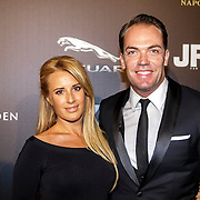 NLD/Amsterdam/20141108 - Inloop JFK Greatest Man of the Year 2014 award, Chantal Bles en partner Robert Doornbos