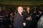 Sir Ben Kingsley; Daniela Barbosa de Carneiro , South Bank Show Awards, Dorchester Hotel, Park Lane. London. 20 January 2009 *** Local Caption *** -DO NOT ARCHIVE-© Copyright Photograph by Dafydd Jones. 248 Clapham Rd. London SW9 0PZ. Tel 0207 820 0771. www.dafjones.com.<br /> Sir Ben Kingsley; Daniela Barbosa de Carneiro , South Bank Show Awards, Dorchester Hotel, Park Lane. London. 20 January 2009