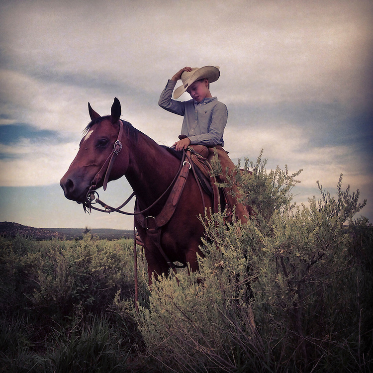 Young Cowboy. Northern New Mexico.