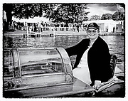 Henley, GREAT BRITAIN,  3rd July 2008,  Umpire launch driver, Tilly, 2008 Henley Royal Regatta,   Henley on Thames. ENGLAND.