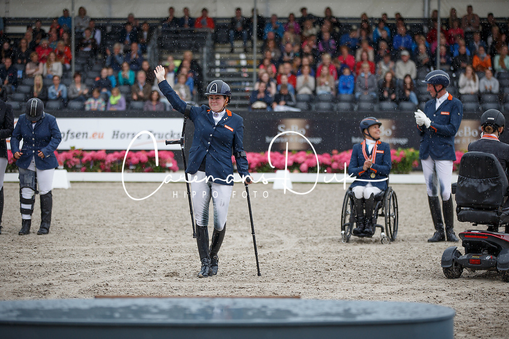 Voets Sanne, (NED)<br /> Para Dressuur Finale<br /> Dutch Championship Dressage - Ermelo 2015<br /> © Hippo Foto - Dirk Caremans<br /> 19/07/15