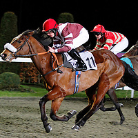 Emerald Royal and Shane Kelly winning the 5.50 race