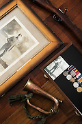 Detail of war artifacts photographed for Legion Magazine.