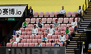 Leicester City substitutes sit apart from each other during the Premier League match at Vicarage Road, Watford. Picture date: 20th June 2020. Picture credit should read: Darren Staples/Sportimage