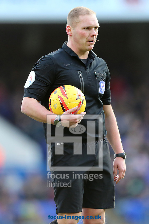 Picture by Richard Calver/Focus Images Ltd +447792 981244<br /> 01/02/2014<br /> Referee, Charles Breakspear awarded Ipswich Town a second half penalty during the Sky Bet Championship match against Bolton Wanderers at Portman Road, Ipswich.