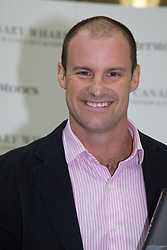 © Licensed to London News Pictures. 10/10/2013. London, UK. Andrew Strauss attends a book signing event to launch his new autobiography, 'Driving Ambition' at Jubilee Place in Canary Wharf, London on 10th October 2013. Andrew Strauss is known as an outstanding opening batsman and one of the most successful and respected England cricket captains of the modern era. Photo credit : Vickie Flores/LNP.
