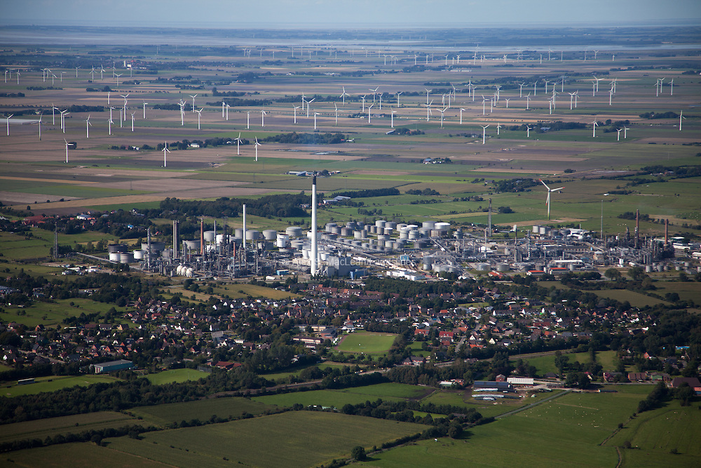 Wind farm in Epenwöhrden, Germany 2012.