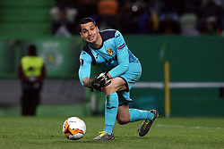 February 14, 2019 - Lisbon, Portugal - Villarreal's goalkeeper Andres Fernandez in action during the UEFA Europa League Round of 32 First Leg football match Sporting CP vs Villarreal CF at Alvalade stadium in Lisbon, Portugal on February 14, 2019. (Credit Image: © Pedro Fiuza/NurPhoto via ZUMA Press)