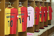 East Bengal FC dressing room during the 1st semi final match of the Hero Super Cup between East Bengal and FC Goa held at the Kalinga Stadium, Bhubaneswar, India on the 16th April 2018<br /> <br /> Photo by: Deepak Malik / SPORTZPICS