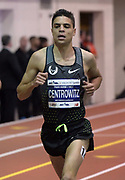 Feb 11, 2017; New York, NY, USA; Matt Centrowitz (USA) places seventh in the two miles in 8:21.07 during the 110th Millrose Games at The Armory.