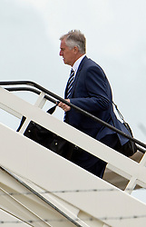 © London News Pictures. 06/06/2012. Luton, UK.  England goalkeeping coach Ray Clemence boarding a plane at Luton Airport in Bedfordshire on June 6, 2012 to head to Poland for the Euro 2012 football tournament. The squads training camp is based in Krakow.  Photo credit: Ben Cawthra/LNP