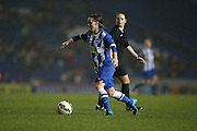Brighton and Hove Albion Women's striker Charlotte Gurr during the FA Women's Premier League match between Brighton Ladies and Charlton Athletic WFC at the American Express Community Stadium, Brighton and Hove, England on 6 December 2015.
