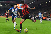 Philip Billing (29) of AFC Bournemouth on the attack during the Premier League match between Bournemouth and Brighton and Hove Albion at the Vitality Stadium, Bournemouth, England on 21 January 2020.