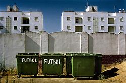 Cadiz, Andalucia, Spain.<br /> Outside the fottball fiel at Isla Cristina, Cadiz.&copy;Carmen Secanella.