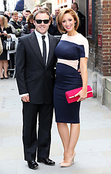 Alan Hansell and Lucy-Jo Hudson  arriving for the wedding of Coronation Street actress Helen Worth  at St.James's Church in Piccadilly, London, Saturday 6th   April 2013.  Photo by: Stephen Lock / i-Images