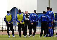06-01-2009 Voetbal:Willem II:Trainingskamp:Torremolinos:Spanje<br /> Andries Jonker is kwaad op zijn team<br /> Foto: Geert van Erven