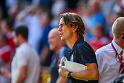 Brentford Manager Thomas Frank during the EFL Sky Bet Championship match between Charlton Athletic and Brentford at The Valley, London, England on 24 August 2019.