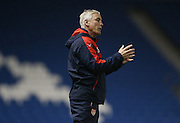 Arsenal U21 manager Steve Gatting during the Barclays U21 Premier League match between Brighton U21 and Arsenal U21 at the American Express Community Stadium, Brighton and Hove, England on 1 December 2015.