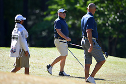Brian Kelly during the Chick-fil-A Peach Bowl Challenge at the Oconee Golf Course at Reynolds Plantation, Sunday, May 1, 2018, in Greensboro, Georgia. (Dale Zanine via Abell Images for Chick-fil-A Peach Bowl Challenge)